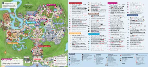 Magic Kingdom Park Map