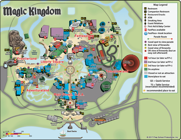 photo relating to Magic Kingdom Printable Map known as Magic Kingdom WDW Prep Higher education
