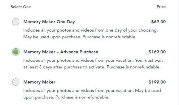 Memory maker price list