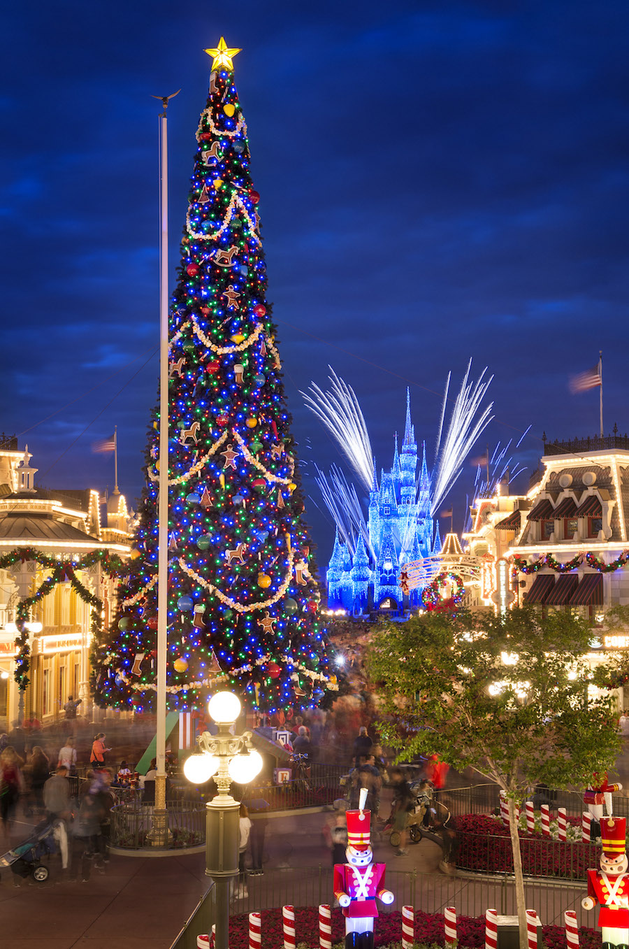 magic kingdom christmas tree - When Does Disneyworld Decorate For Christmas
