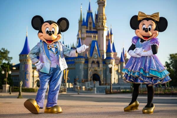 new 50th costumes for mickey and minnie
