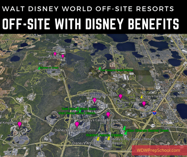Offsite resorts with Disney benefits