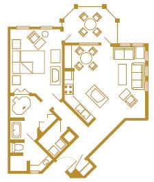 Old Key West 1 bedroom floor plan - Good's Food To Go (breakfast)