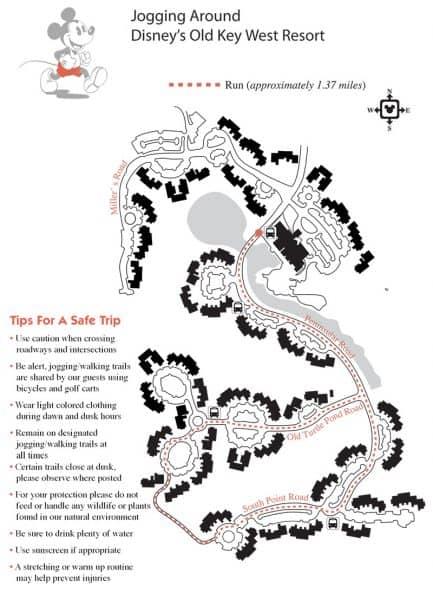 Old Key West Jogging Map