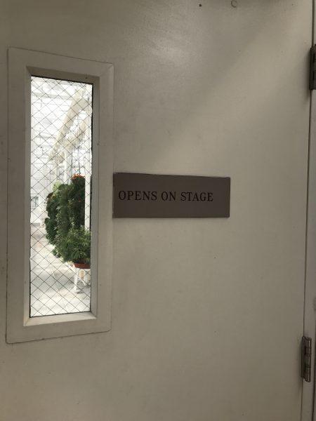 On stage door sign