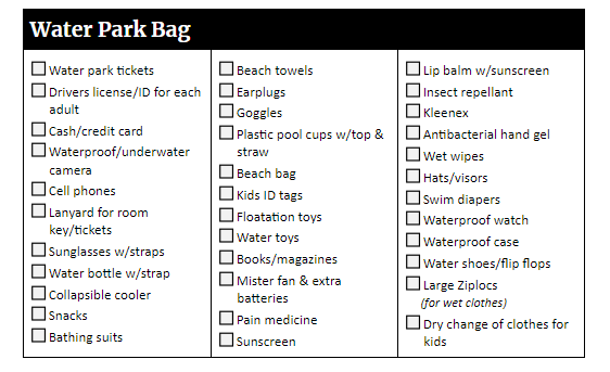 The ultimate Disney World packing list - Word, PDF and