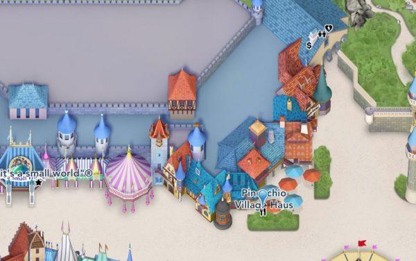 Pinocchio Village Haus map