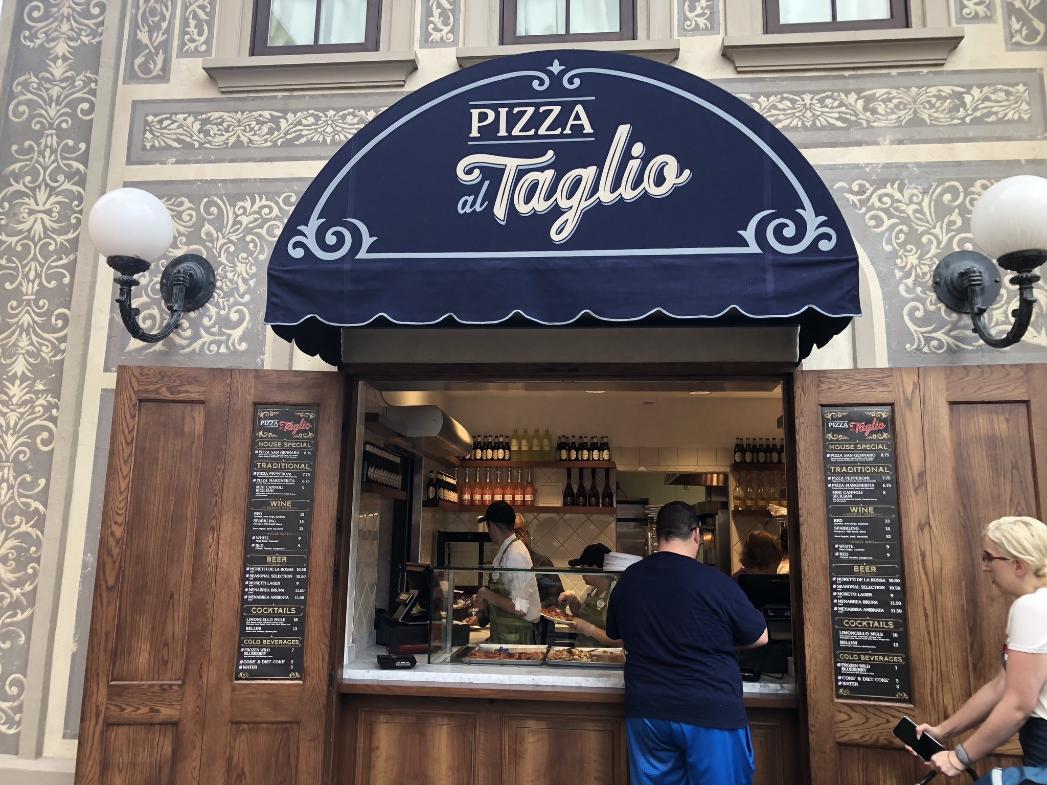 Pros and Cons for All Epcot Restaurants - Pizza al Taglio (lunch)