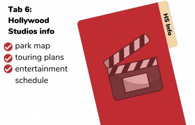 Hollywood Studios Disney Planning Binder
