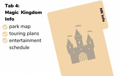 Magic Kingdom section binder
