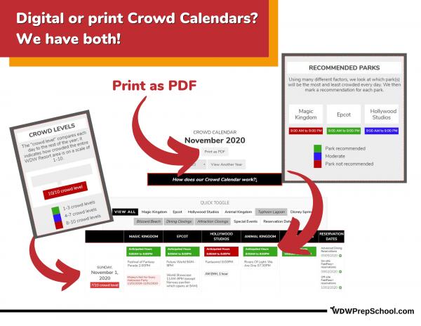 Crowd Calendar print and digital