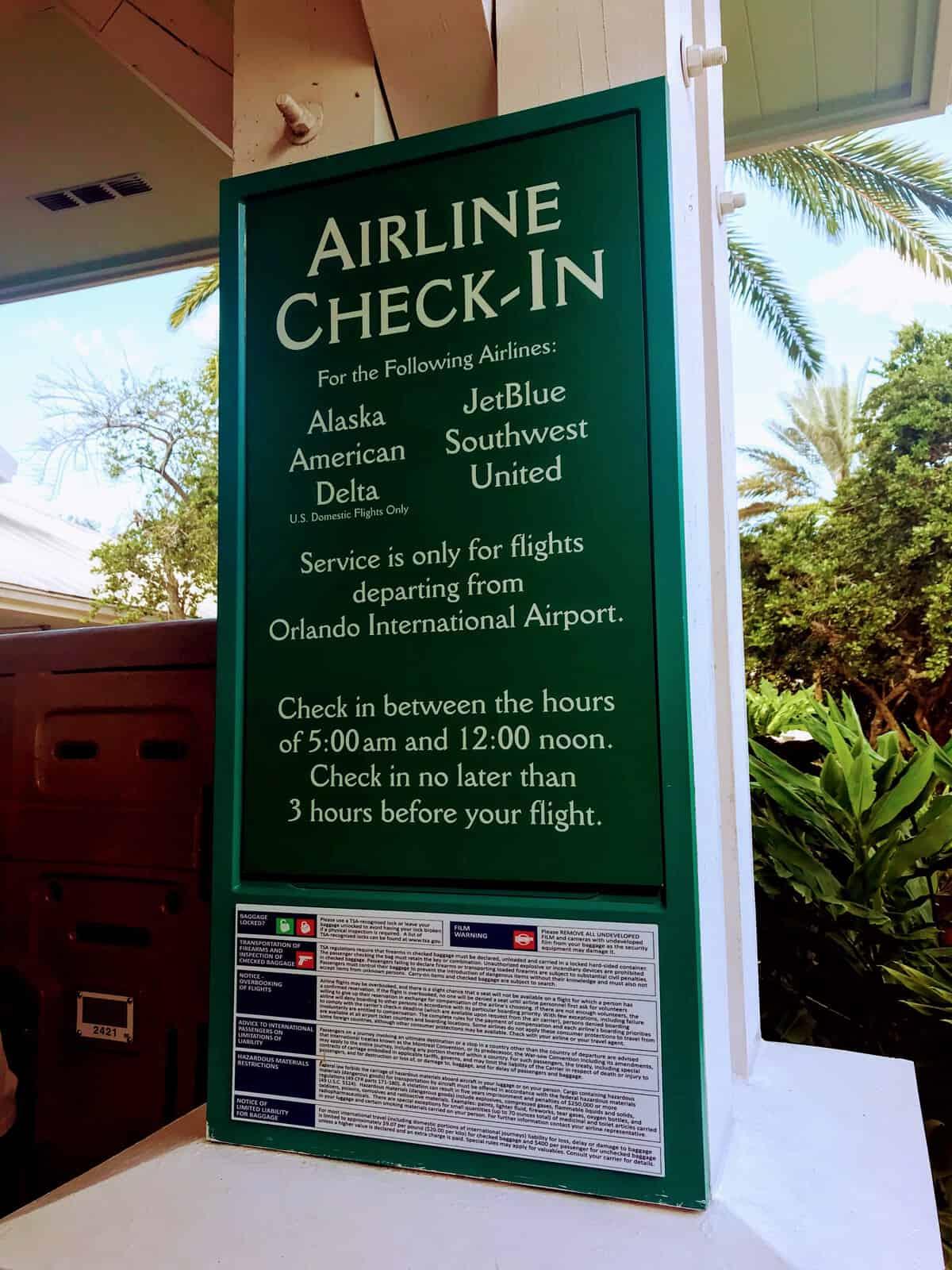 Resort Airline Checkin