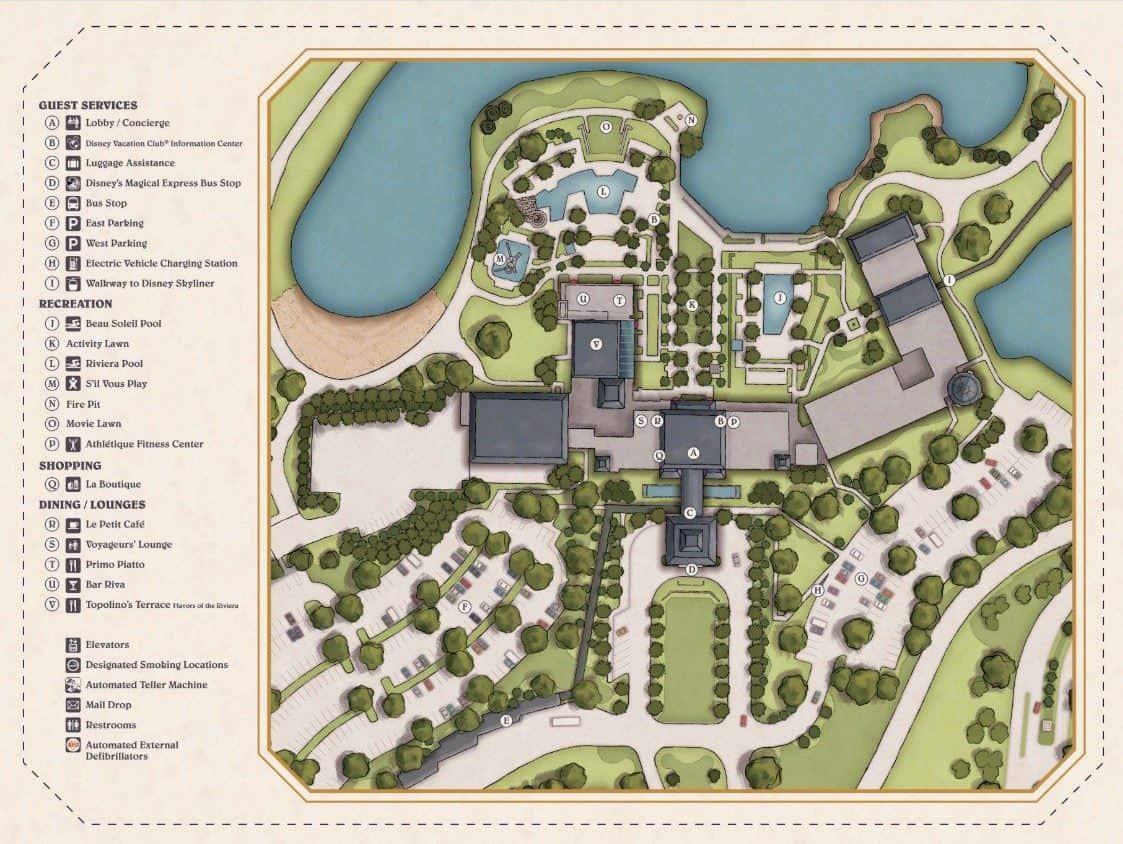 Riviera Resort Map