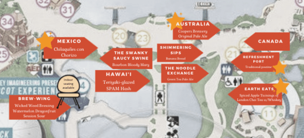 Food and Wine Festival - Shimmering Sips booth location map