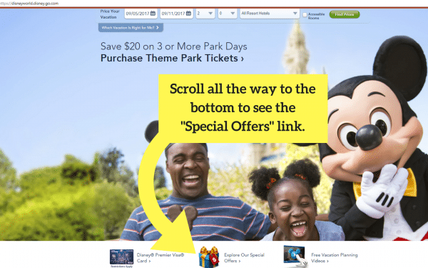 Special offers 600x375 - Complete guide to Disney World discounts