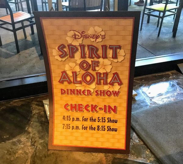 Spirit of Aloha Disney World Dining Plan
