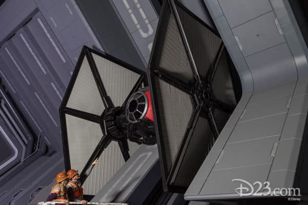 TIE fighter at Star Wars: Galaxy's Edge