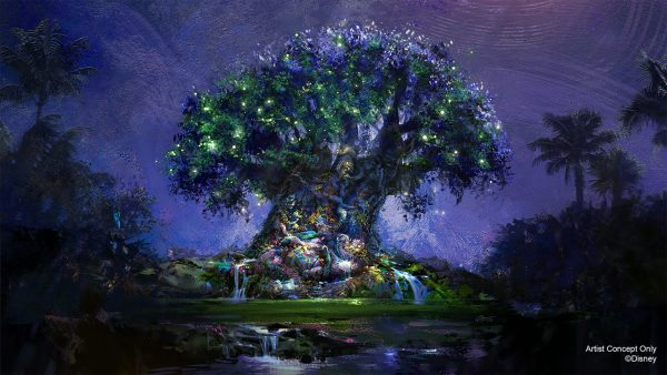 tree of life nighttime overlay for 50th