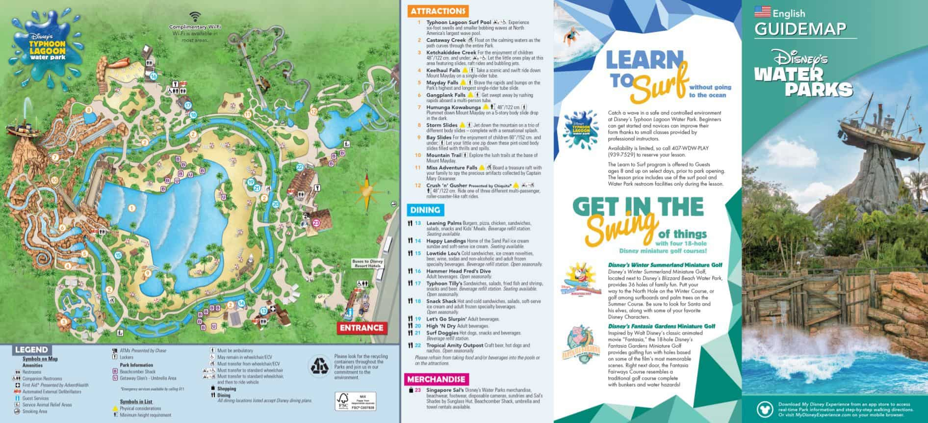 Map of Typhoon Lagoon at Disney World