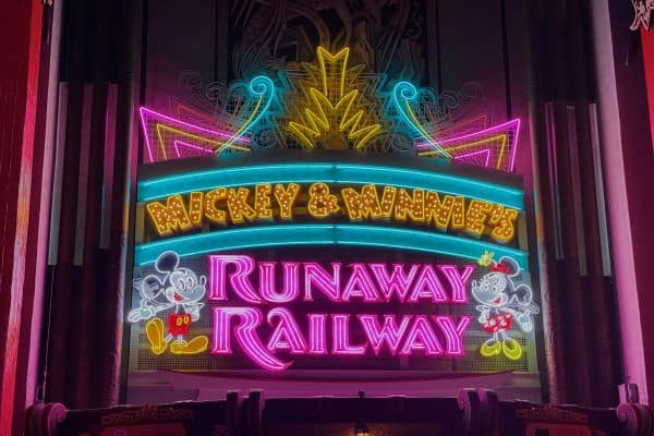 Mickey and Minnie's Runaway Railway marquee