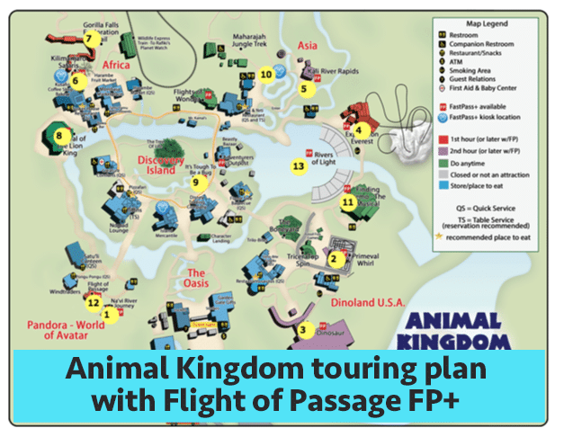 aktouringwithpandora - Animal Kingdom touring plans for 2018 (with FastPass+ suggestions)