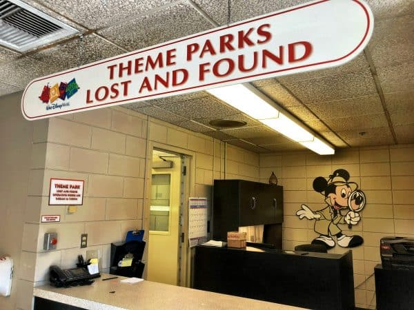 Theme parks lost and found inside