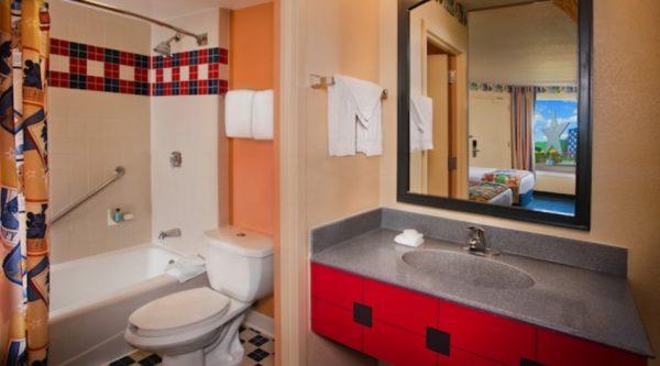 Bathroom in an All-Star Sports room