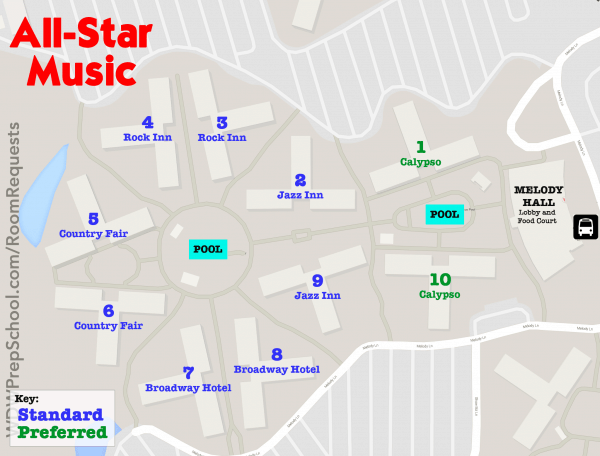 allstarmusicmap 600x456 - How to get the Disney World resort room you want