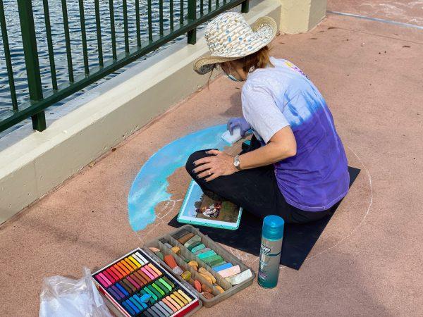 Chalk artist at work