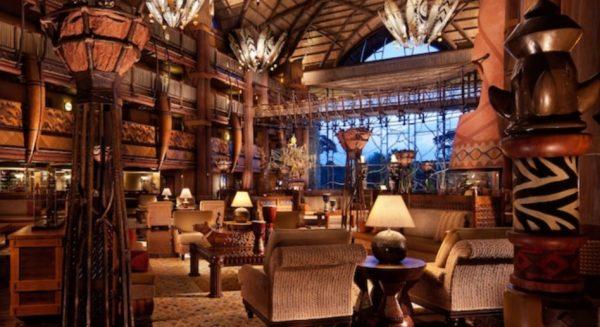 Lobby of Disney's Animal Kingdom Lodge