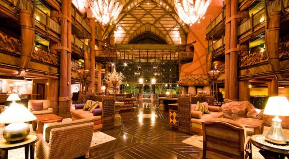 Photo of Animal Kingdom Lodge lobby at Disney World