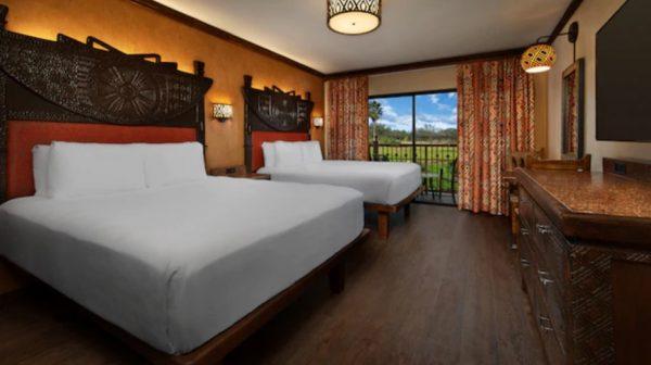 Standard room at Disney's Animal Kingdom Lodge