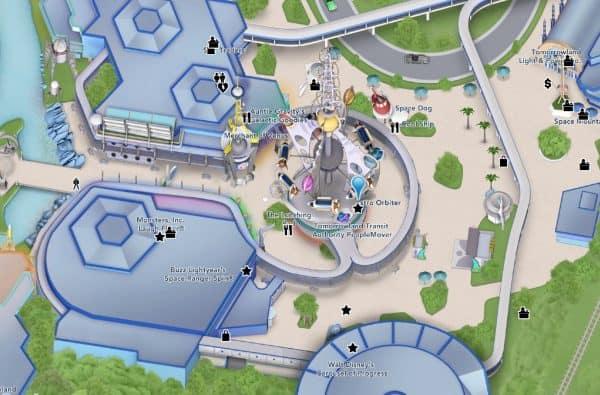 astro orbiter map location
