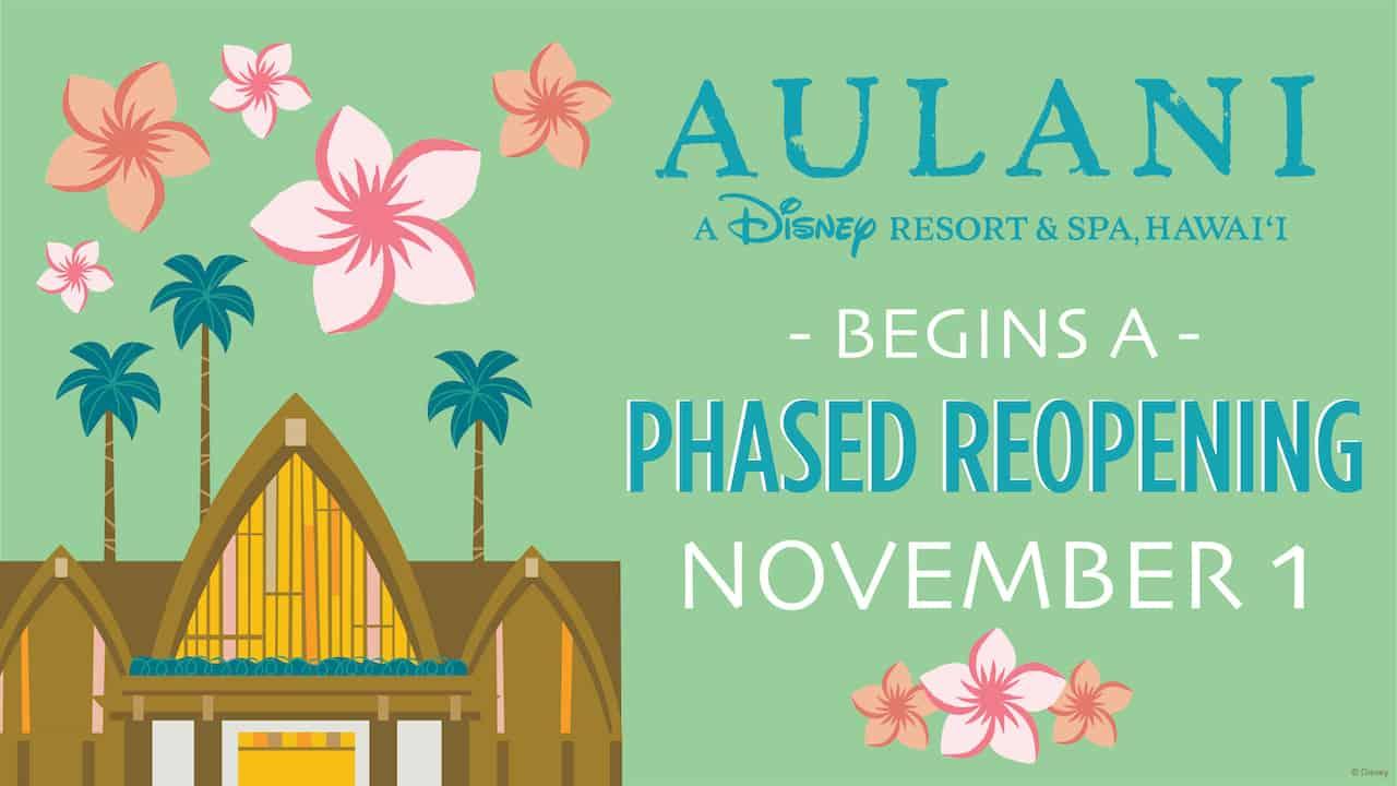 Aulani Resort Reopening announcement