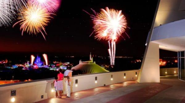 Bay Lake Tower fireworks