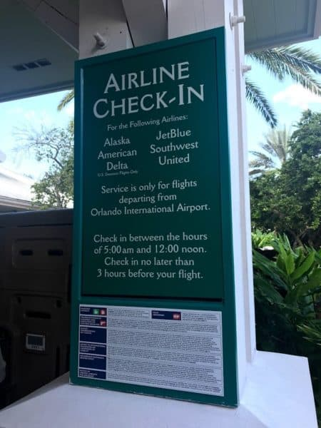 Resort Airline Check-In