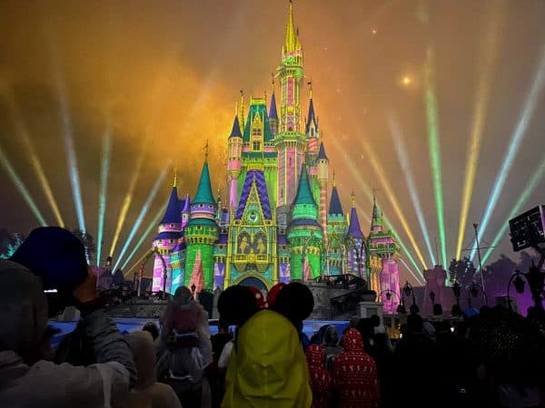 Castle fireworks projections