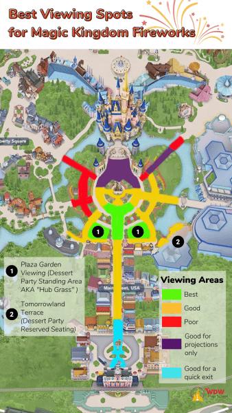 Best Magic Kingdom fireworks views