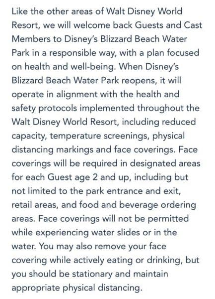 blizzard beach health and safety protocols