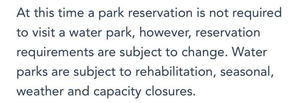 park reservations are not required for blizzard beach