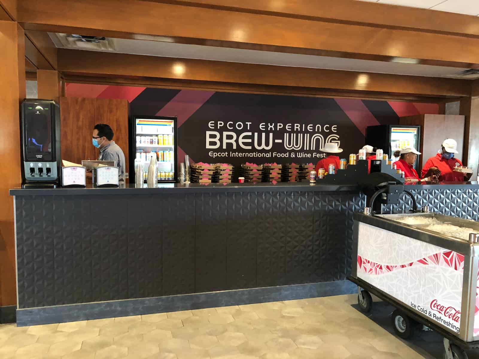 Brew Wing booth Food and Wine festival