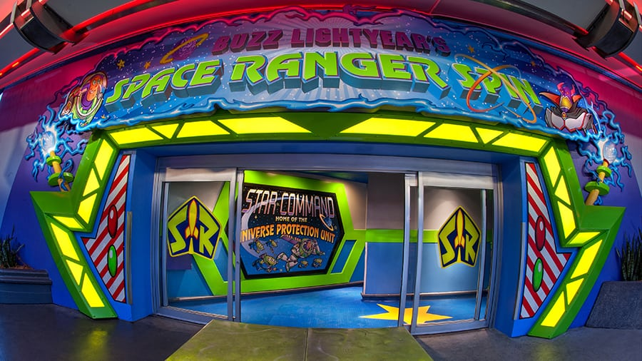 buzz lightyear's space ranger spin sign