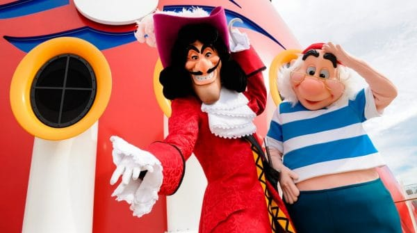 Captain Hook and Smee on the Disney Cruise Line