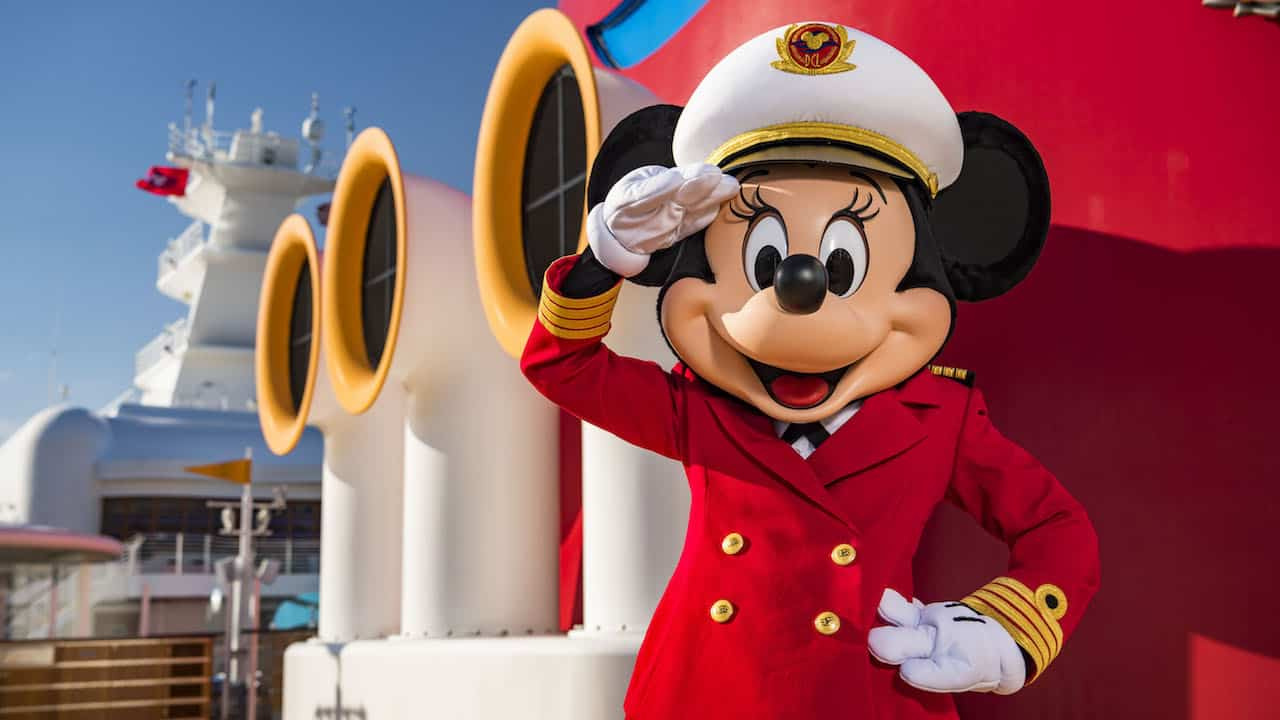 captain minnie on the disney cruise line