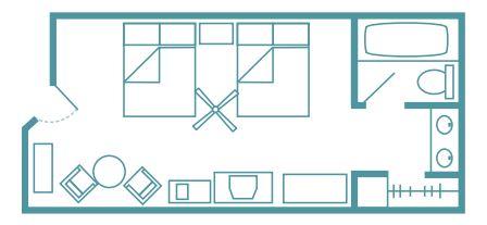 Caribbean Beach standard floor plan