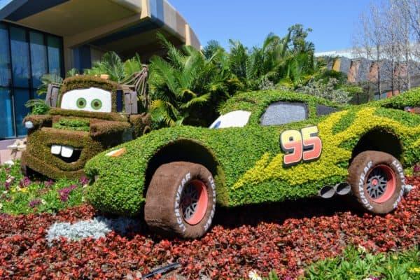 Cars topiaries at Epcot