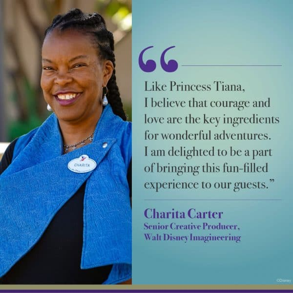 Charita Carter on Princess and the Frog attraction