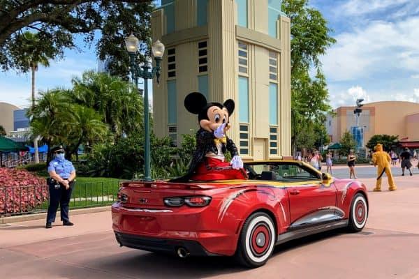 Mickey in motorcade car