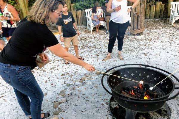 Caribbean Beach Resort marshmallow Roast