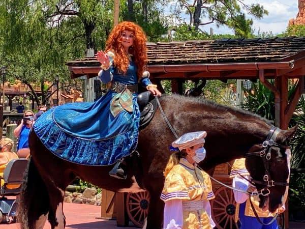 Merida on horseback